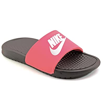 a4bea9789c9296 Nike Benassi JDI Youth Girls Pink Slides Sandals Shoes Size UK 10.5   Amazon.co.uk  Shoes   Bags