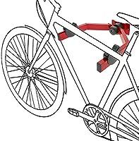 PrimeMatik - Gancho de Pared para Colgar la Bicicleta del chasis en Horizontal