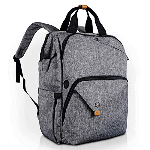 Hap Tim Laptop Backpack 15.6/14/13.3 Inch Laptop Bag Travel Backpack for Women/Men Waterproof School Computer Bag Large Capacity Bookbag for College/Travel/Business (7651US-G)