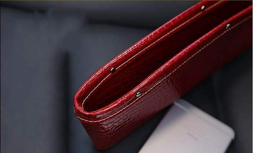 BAOYUANWANG Arge Capacity Car Seat Leather Crocodile Leather Storage Box Car Seat Storage Box Keep The seat Clean (Color : Red) by BAOYUANWANG (Image #2)