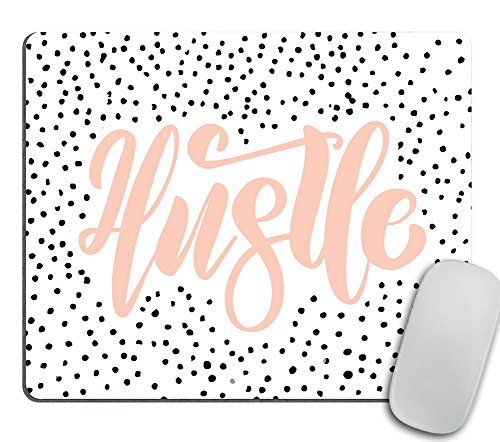 Hustle Mouse Pad, Mouse Pad Quote, Coworker Gift, Hustle Hard, Gift for Boss, Gift for Coworker, Desk Accessories, Mousemat, Mousepad