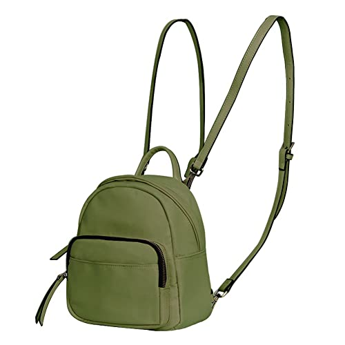 1d11f2386196 JUMENG Fashion Mini Backpacks for Women Girls Nylon Small Shoulder Bag  Waterproof (Army Green)