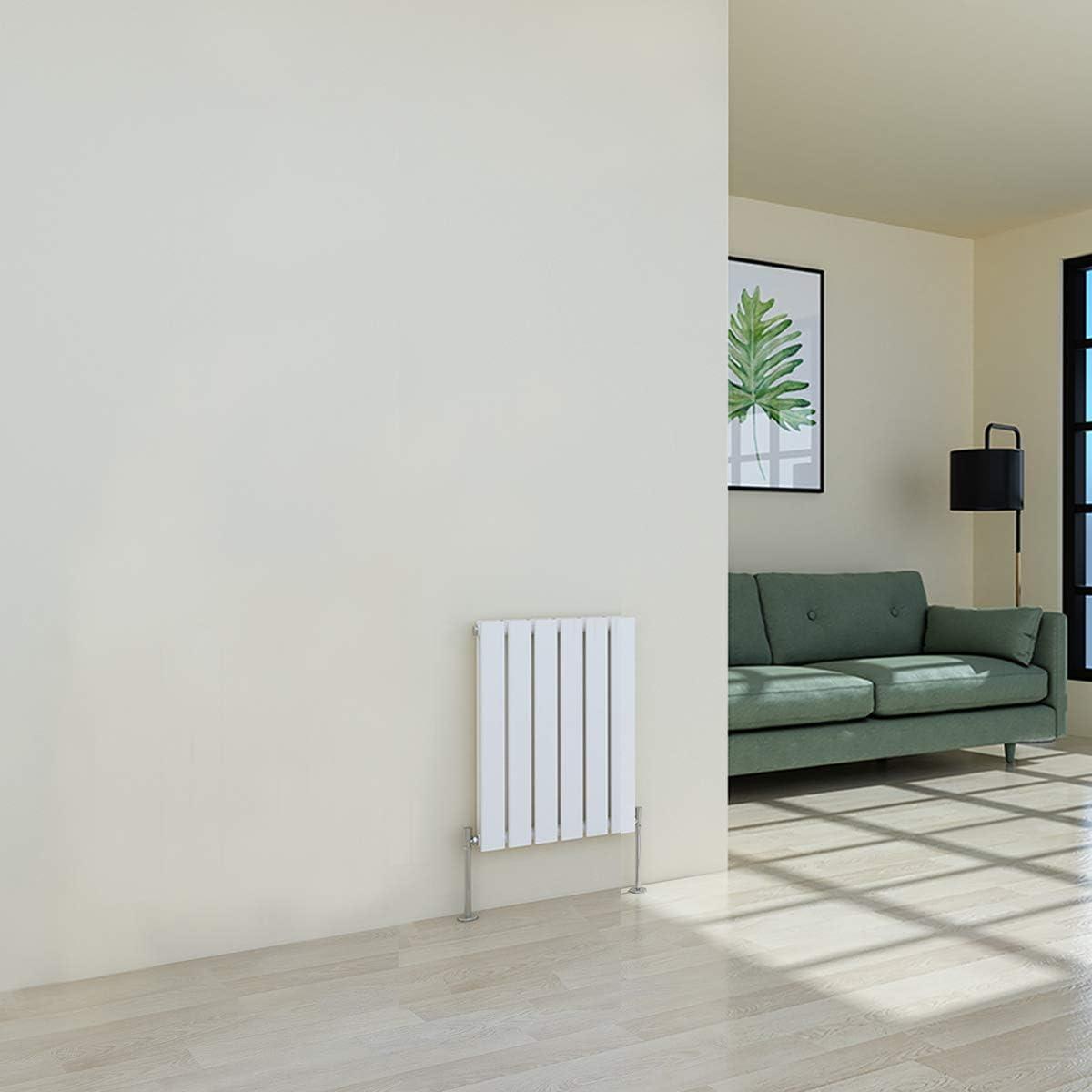 WarmeHaus Horizontal Designer Radiator Flat Panel Modern Heating Double White Radiator 600 x 410mm