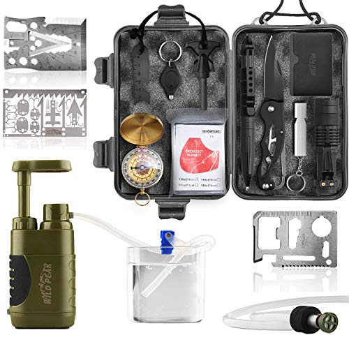 Wild Peak Prepare-1 Survival Tool Kit Bundle with Stay Alive-3 Outdoor Tactical...