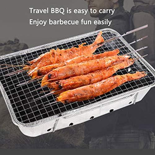 PoêLe à Barbecue Jetable, Grils de Barbecue Portatifs Pliants en Plein Air, à Usage Domestique, IdéAl pour Les Petites FêTes
