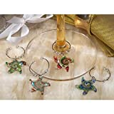 Murano art deco collection starfish design wine charms