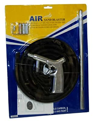 TCP Global Brand Heavy Duty Air Sand Blaster 8 Piece Kit with 3 Extra Nozzles