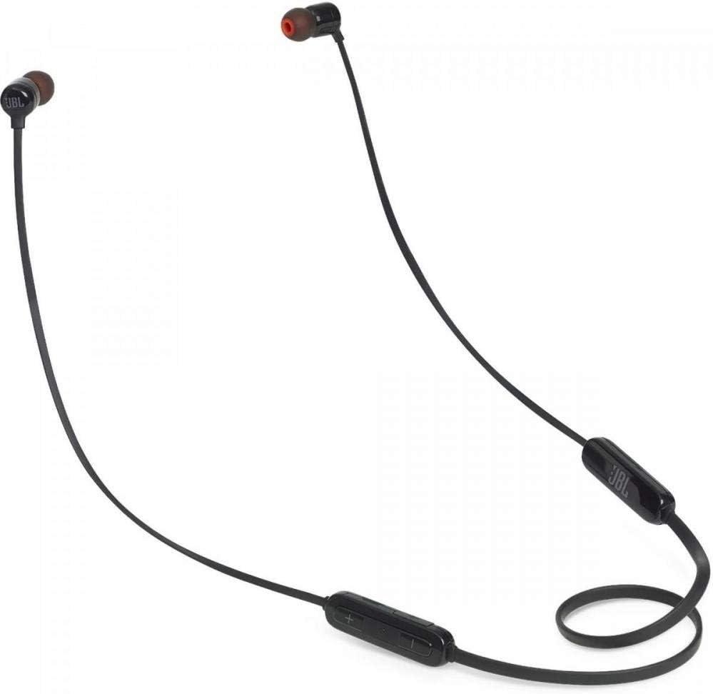 JBL T110BT - Auriculares inalámbricos con Pure Bass, Bluetooth, mando a distancia y micrófono, Batería de hasta 6 horas, 2h de recarga, Color Negro
