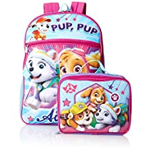 Nickelodeon Girls' Paw Patrol Backpack with Lunch Kit, Purple