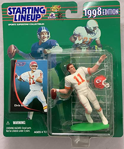 1998 KENNER STARTING LINEUP NFL ELVIS GRBAC KANSAS CITY CHIEFS CORRECTED VERSION JC PENNY EXCLUSIVE MOC (Moc Penny)