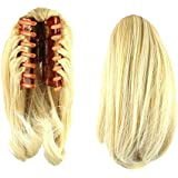 """S-ssoy 10"""" Women's Short Straight Claw Clip On In Ponytail Pony Tail Hair Extension Synthetic Wig Hair Piece Hairpiece for Girl Lady Women"""