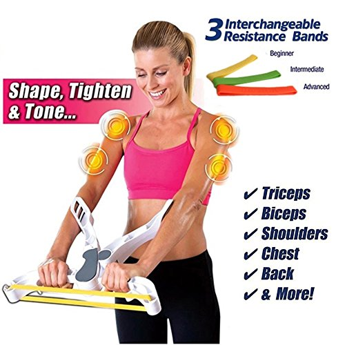 OMZBM Arm Exercise Equipment Arm Upper Exerciser Force Fitness Strength Training With 3 Strength Arm Resistance Training Bands by OMZBM