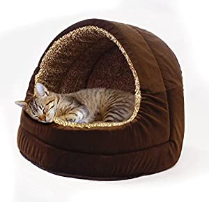 Milliard Premium Plush Pet Cave/Igloo, Extremely Comfortable Great for Cozy Pets