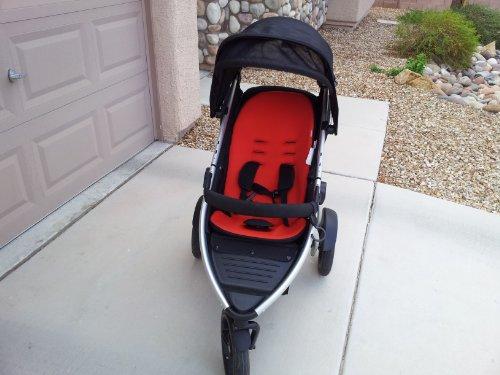 PHIL & TEDS Vibe 2 Stroller & Double Kit - Black/Red