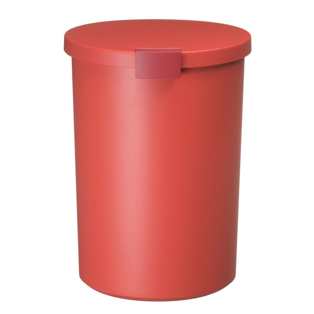 丸型 ぼん家具 くずかご オレンジ ごみ箱 日本製 ダストボックス フタ付きゴミ箱 ペール