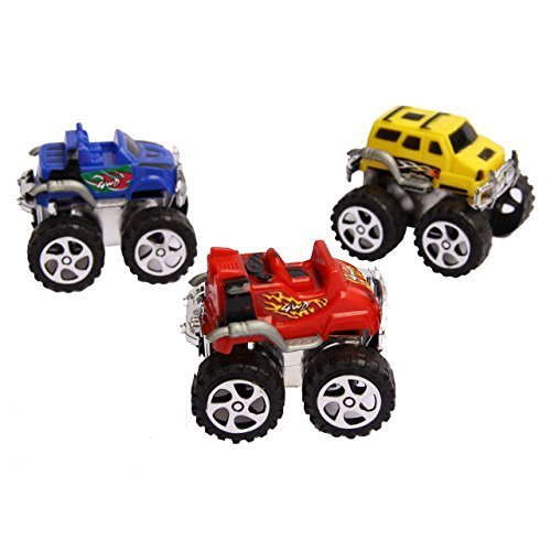 36 Pack Toy Monster Trucks - Pull Back and Push Friction Toys - 2.3