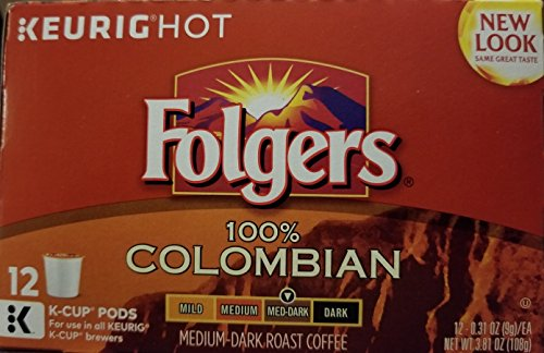 Folgers Gourmet Selections Keurig Brewed, Lively Columbian, Medium, K-Cup-12 ct by Folgers