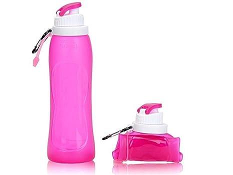 Yhcean Artículos de Uso doméstico Botellas de Agua Plegables 500ML Deportes durables y Bebida Botella al Aire Libre (púrpura) para casa: Amazon.es: Hogar