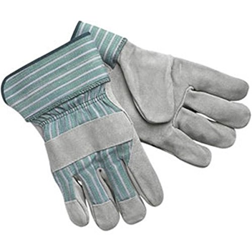 MCR Safety Select Shoulder Leather Palm Gloves, ''C'' Grade, Rubberized Cuffs, LG (9 Pack)
