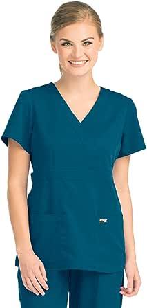 Barco - Grey's Anatomy 4153 Women's Mock Wrap Scrub Top