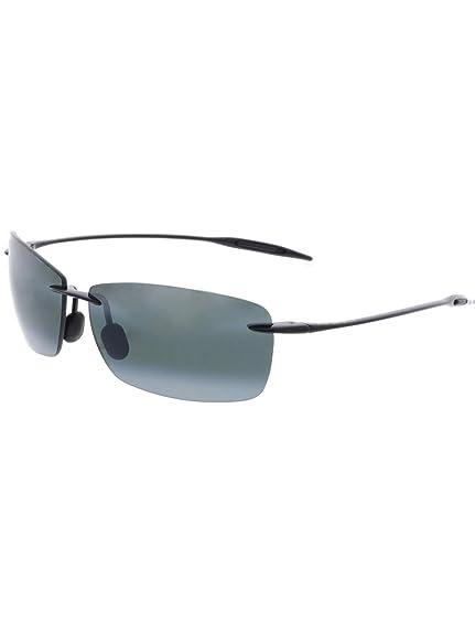 a2f6ba5926bd Maui Jim Men s Lighthouse 423-02 Black Rimless Sunglasses  Maui Jim ...