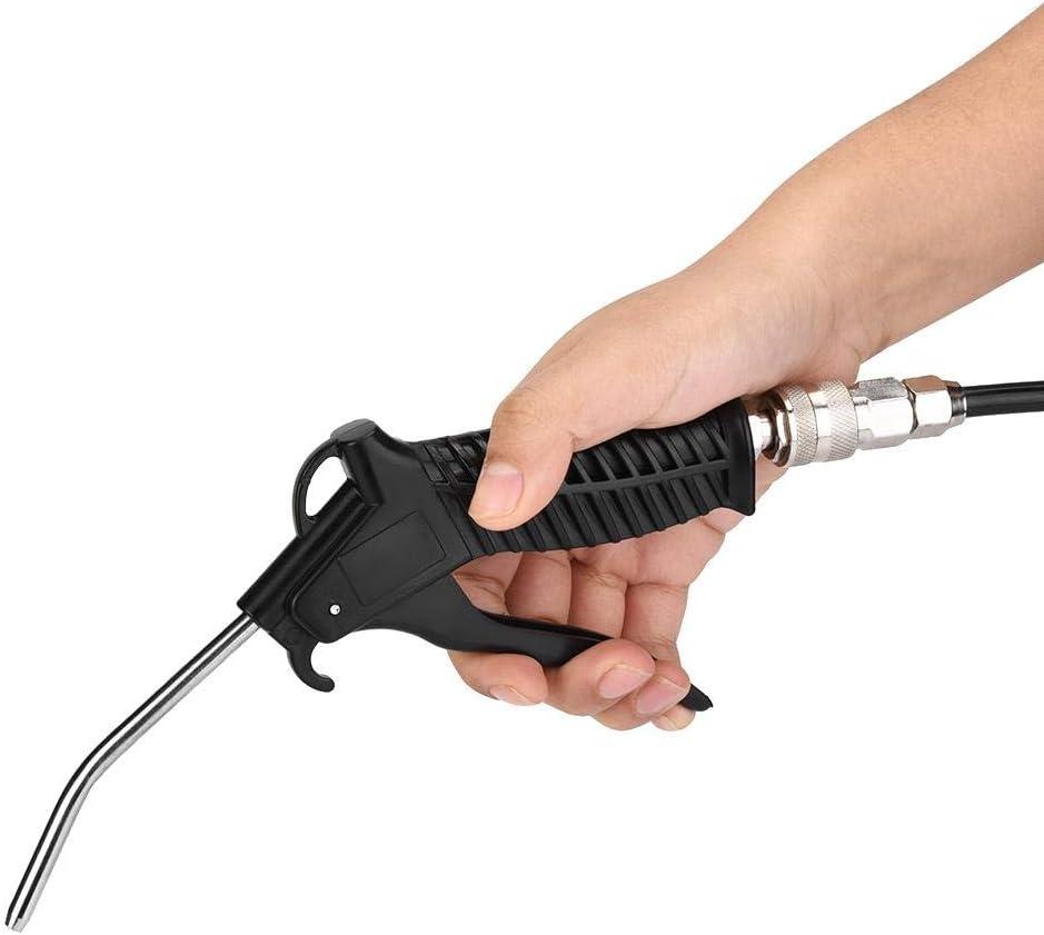 manguera de PU Conjunto de kit de soplado de viento neum/ático de pistola de aire negro con conector UE