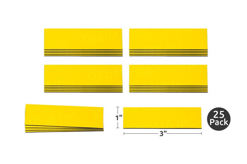 "1"" x 3"" Yellow Damp Erase Write On Wipe Off Colored Magnet Strips 25/Pkg 51rYLtIlVLL"