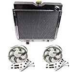 2 Pcs 12V Slim Electric Cooling Fan With Mounting Kit & A Full Aluminum Radiator