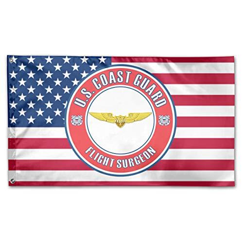 - JNJUY U.S. Coast Guard Flight Surgeon Badge 3x5 Foot Flags Polyester Banner