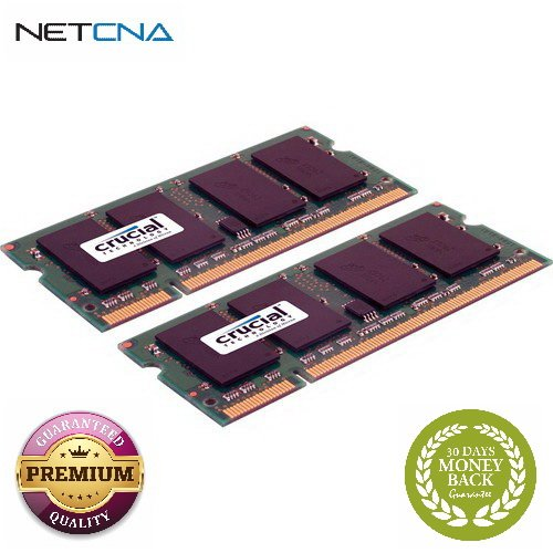 4GB (2 x 2GB) 200-pin SODIMM DDR2 PC2-6400 Memory Module Kit for Mac 4GB (2 x 2GB) 200-pin SODIMM DDR2 PC2-6400 Memory Module Kit for Mac With Free 6 Feet NETCNA HDMI Cable - BY NETCNA (4gb Kit Two 2gb Modules)