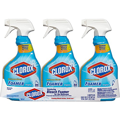 Bleach Cleaner - Clorox Bleach Foamer Bathroom Spray, 30 oz. Bottles 1 Pack of 3