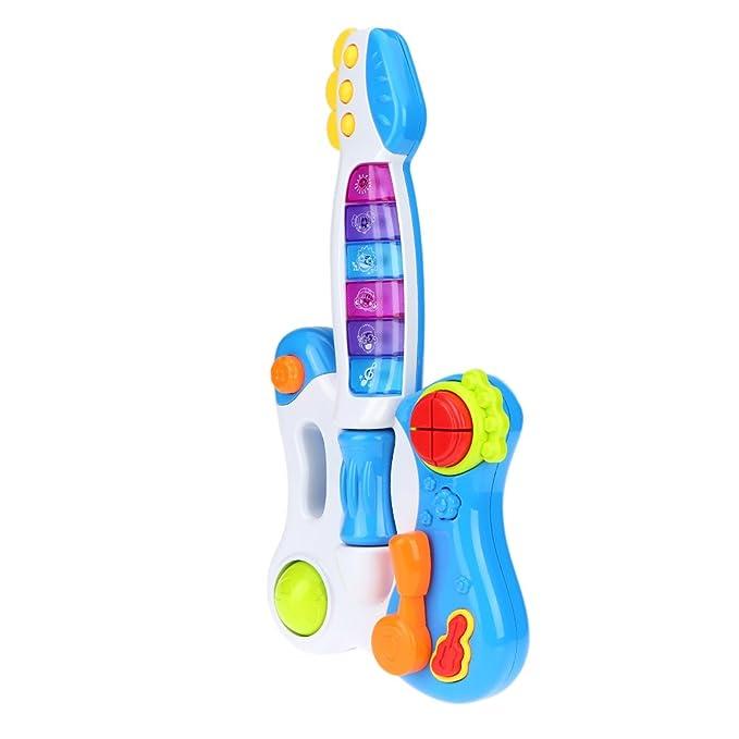 Goolsky Juguete de Guitarra Musical Juguete para Bebé Niños con Luces Flashing Juguetes Educativos Inteligencia: Amazon.es: Juguetes y juegos