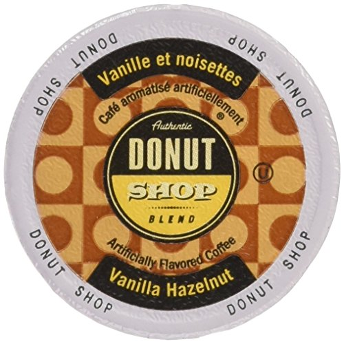 Authentic Donut Shop Blend Vanilla Hazelnut Single Cup Coffee for Keurig K-Cup Brewers, 24 Count Coffee Shop Hazelnut Coffee