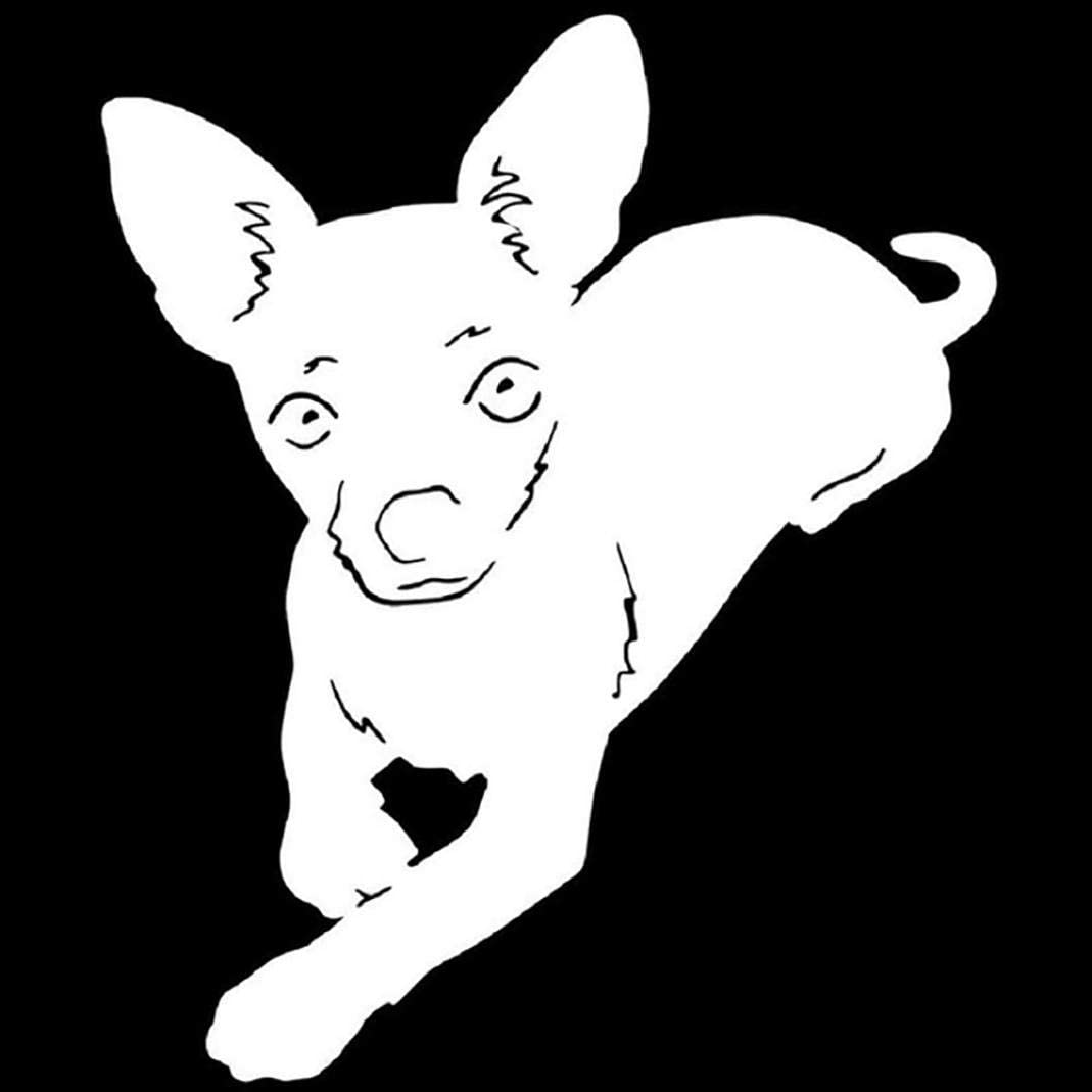 Black Grebest Car Stickers External Decoration Car Sticker Lovely Chihuahua Pet Dog Reflective Car Vehicle Body Window Decals Sticker Decor