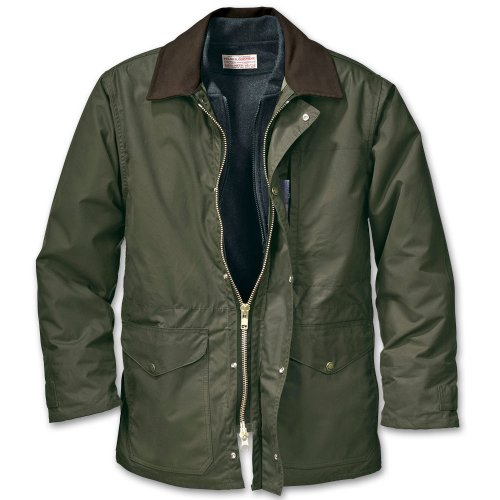 Filson Oil Finish (Filson Cover Cloth Mile Marker Coat - Seattle Fit (Medium, Otter Green))
