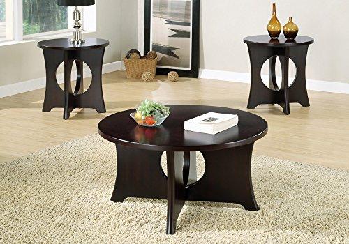 Monarch Specialties Occassional Table Set, Espresso, 3 Piece Set