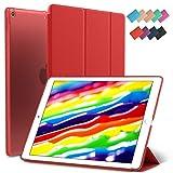 New iPad 9.7-inch 2018 2017 Case, ROARTZ Red Slim-Fit Smart Rubber Folio Hard