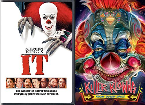 Clowns Attack Movies 2-DVD Bundle - Killer Klowns from Outer Space + Stephen King's It Double Feature for $<!--$30.95-->