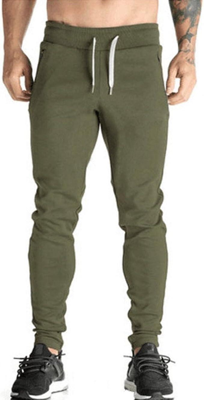 VPASS Pantalones para Hombre, Color Sólido Pantalones Moda ...