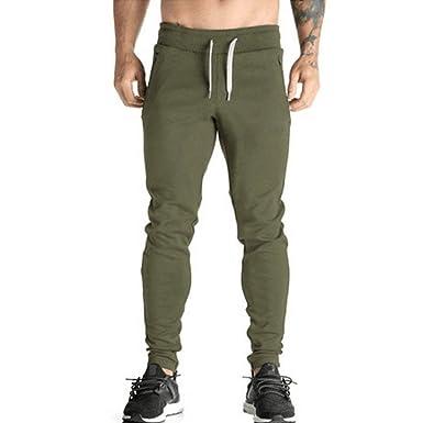 VPASS Pantalones para Hombre, Color Sólido Pantalones Moda Pop ...