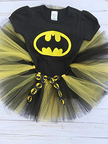 Amazon Batman Tutu SetBatgirl Halloween Birthday Shirt Handmade