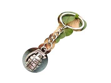 Ancient Bomba de plata llavero, llavero, diseño de Granada ...