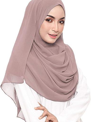 Womens Muslim Islamic Long Hijab Scarf Shawls Head Wrap Chiffon Ladies Scarves