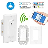 Smart Wi-Fi Light Switch in Wall Installation Suit for 1 Way Switch Box Compatible with Alexa/Google/Assistant/IFTTT(No Hub Required)