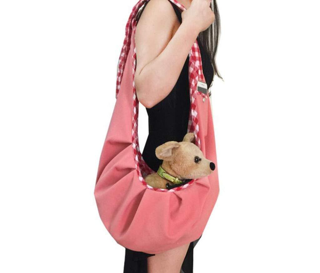 Pink Pet Backpack, Casual Messenger Bag, Out Shoulder Bag,Pink