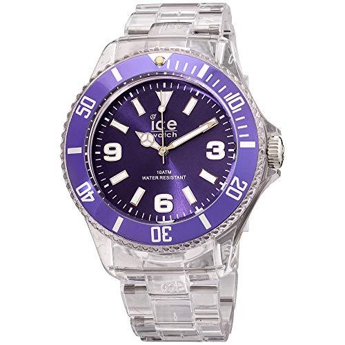 Ice-PURE Purple Dial Plastic Strap Unisex Watch PU.PE.B.P.12