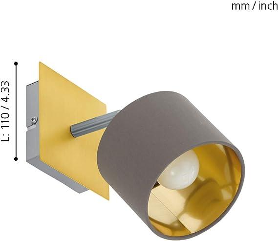 Eglo Valbiano Spot Steel 10 W Brushed Brass Matt Nickel