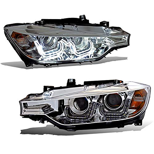 (SPPC Chrome Projector Headlights U Bar Plank Style For BMW 3 SERIES F30 4 DOOR (ONLY FIT WITHOUT MOTOR VERSION) - (Pair))