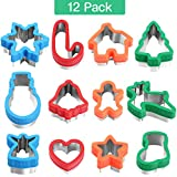 Unomor 12pc Stainless Steel Christmas Cookie Cutters w/ Comfort Grip Deal (Small Image)