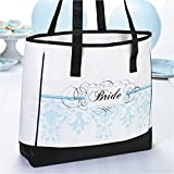 Jewelry Adviser Gifts Lillian Rose White w/Black & Blue Bride Tote